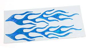 Amazon Com Uxcell Blue Soft Plastic Fire Flame Pattern Car Sticker Adhesive Decal Decor Automotive