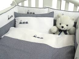 embroidered train crib bedding featured