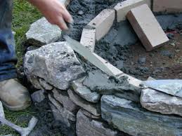 how to set stones for a fire pit how