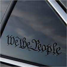 Amazon Com Stick Emall We The People Window Vinyl Decal White Or Matte Black Matte Black Automotive
