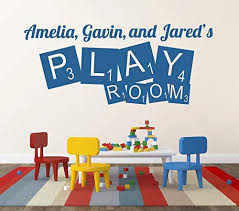 Amazon Com Play Room Wall Decal Play Room Decor Personalized Wall Decal Name Wall Decal Playroom Decor Playroom Decal Vinyl Lettering Nursery Decor Made In Usa Big Size Home Kitchen