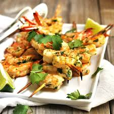 Spicy Grilled Shrimp - Pinch and Swirl