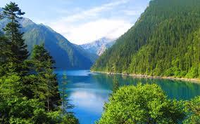 تحميل خلفيات بحيرة جبلية 4k الصين المناظر الطبيعية الجبلية