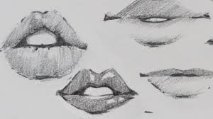 how to draw lips traditional or manga
