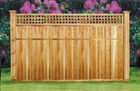 7ft X 8ft Cedar Wood Privacy Lattice Top Fence Neighbor