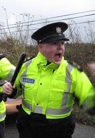 Image result for gardai attack protesters at american             embassy