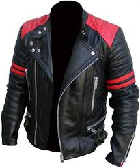man real black leather jacket