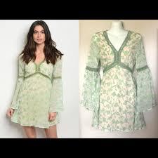 Dresses   Ivy Bell Sleeve Mini Dress 60s Boho S M New   Poshmark