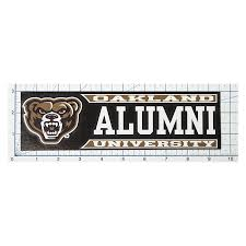 Oakland Alumni Window Decal Campus Den