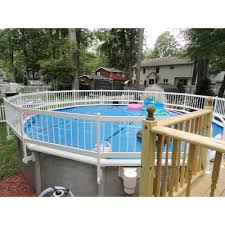Sentry Safety Pool Fence Premium Guard Above Ground Pool Safety Fence Base Kit A 8 Fence Spans Agpf Kit A The Home Depot