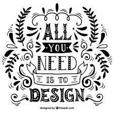 graphic design quote in hand drawn style vector