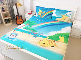 Pokemon Themed Kids Room Decor With Tangerine Bedsheets Fabulous Mom Life