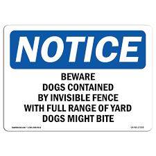 Osha Notice Osha Beware Of Dog Sign Heavy Duty Sign Or Label Ebay