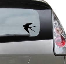 Vinyl Car Decal Swallow Bird Decal For Tumbler Car Mug Etsy