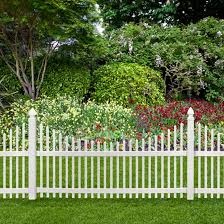 Veranda Chatham 4 Ft H X 8 Ft W White Vinyl Scalloped Top Spaced Picket Fence Panel Unassembled 128005 The Home Depot