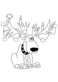 Kerst Kleurplaten Rudolf Het Rendeer Kleurplaten Dieren