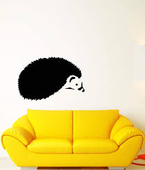 Vinyl Wall Decal Nature Cartoon Hedgehog Forest Animal Pet Stickers 2 Wallstickers4you