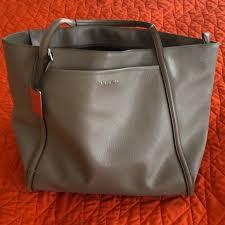 leather voyageur handbag purse tote
