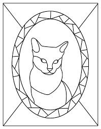 cat stained glass patterns stained