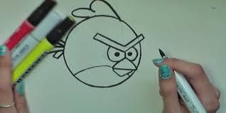How to Draw Red Angry Birds in Pencil - Artist Rage - Costin Craioveanu