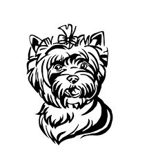 Yorkie Dog Yorkshire Terrier Decal Custom Vinyl Car Truck Window Sticker Personalize Dog Breed Decal Yorkie Dogs Dog Decals