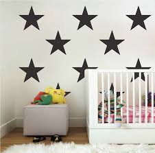 Large Bedroom Star Stickers Bedroom Stars Wall Decals Removable Nursey Room Stars Star Stickers Large Star Trendy Wall Designs