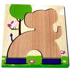 Đồ Chơi lắp ghép Gỗ Dành Cho Bé 2 Tuổi Trở Lên PuzzleToys - Xếp hình Voi  con - rete0025-SHOP-0201, giá chỉ 80,327đ! Mua ngay kẻo hết!