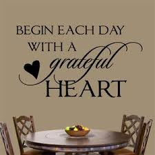 Christian Wall Decal Begin Day Grateful Heart Religious