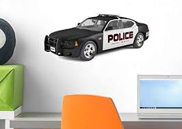 Amazon Com Wallmonkeys Sporty Police Car Wall Decal Peel And Stick Decals For Boys 18 In W X 10 In H Wm345153 Home Kitchen