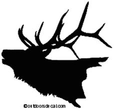 Elk Decal 3 Md Wildlife Window Decals And Stickers Wildlife Decal