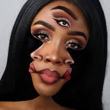 makeup artist morphs herself into