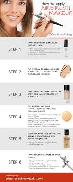 how to apply airbrush makeup step by