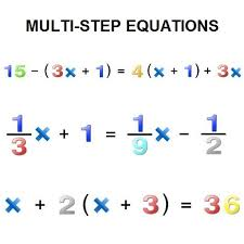 what are multi step equations and how