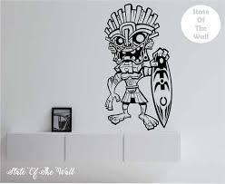 Tiki Surfer Hawaii Vinyl Wall Decal Sticker Art Decor Bedroom Design Mural In 2020 Vinyl Wall Decals Sticker Art Wall Decals