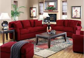 red living room sofa set red
