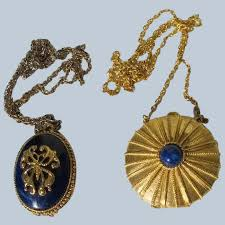 solid perfume necklaces pendants on