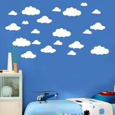 Jpgif 31pcs Diy Large Clouds Wall Decals Children S Room Home Decoration Art Walmart Com Walmart Com