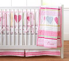 heart crib bedding set pottery barn kids