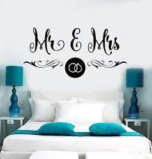 Amazon Com Vinyl Wall Decal Mr Mrs Wedding Salon Boutique Bedroom Design Stickers Large Decor 930ig Black Arts Crafts Sewing