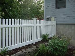 3 Wide Picket White Vinyl Picket Fence White Garden Fence Backyard Fences Fence Decor