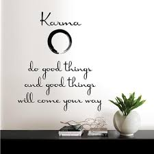 Wall Pops Black Karma Quote Wall Decal Dwpq2100 The Home Depot