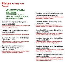 alfredo s italian kitchen menu