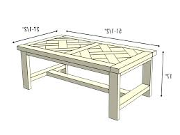 what is coffee table height
