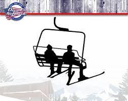 Ski Lift Chair Decal Etsy