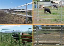 Easily Assembled Farm Fence Panels 1 8 2 1m Round Pipe Cattle Yard Gates