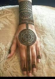 Arabic Mehndi Design Back Hand Circle