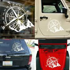 9 8 Compass Rose Navigate Vinyl Sticker Side Door Rear Window Off Road Decal Ebay