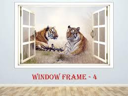 Flying Tiger Wall Cool Decal Stripe Bengal Design White Giant Decor Uk Woods Vamosrayos