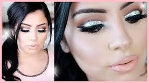 dark glam glitter makeup tutorial