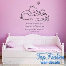 Classic Pooh As Soon As I Saw You I Knew An Adventure Was Going To Happen Baby Quote Vinyl Wall Decal Winnie Pooh Wall Stickers Decal Sticker Paper Stickers Car Decaldecal Ac Aliexpress